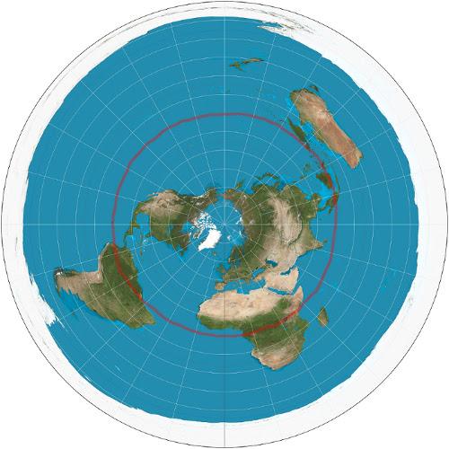 Garis-khatulistiwa-peta-bumi-datar