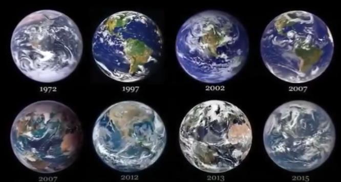 Foto Bumi Bulat dari Tahun ke Tahun