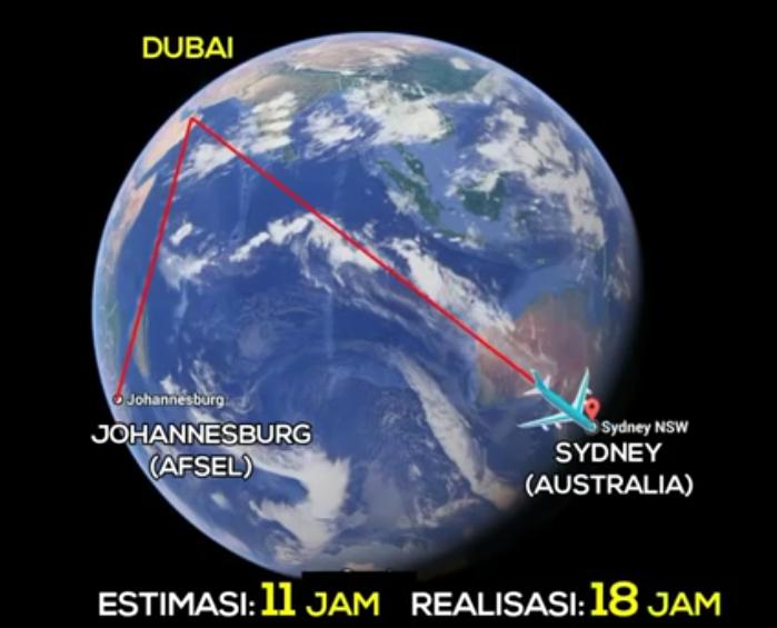 Johannesburg-Dubai-Sidney