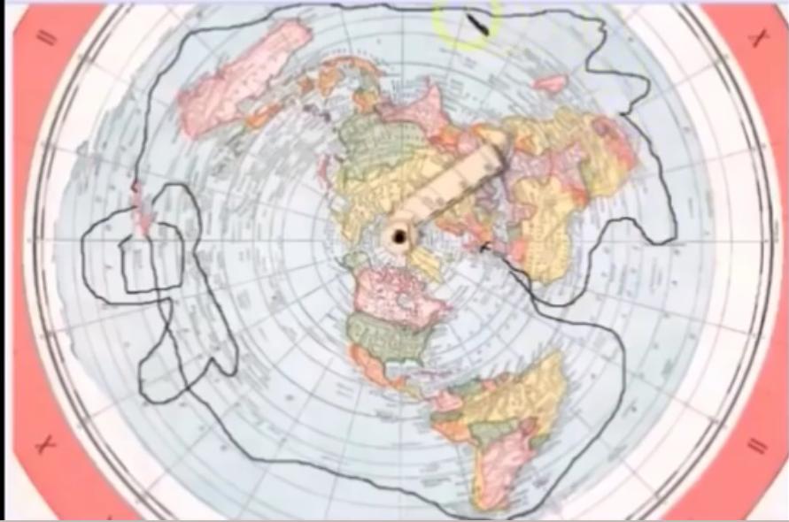 rute-expedisi-antartika-james-cook-dengan-peta-bumi-datar