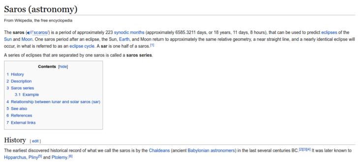 saros on wiki