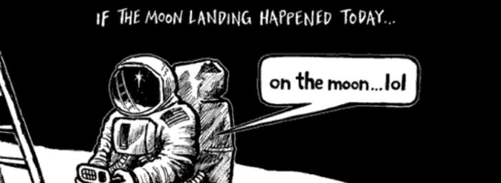 meme pendaratan bulan